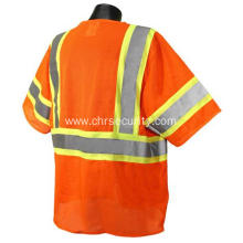 Custom short-sleeved reflective safety clothing