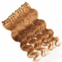 Brown Brazilian natural water wave human hair extension cheap hair weft