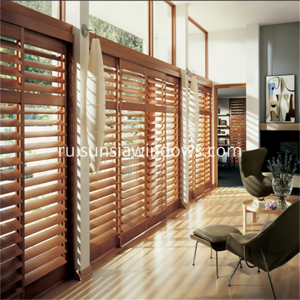Aluminum Framed Plantation Shutters