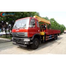 O caminhão comercial novo de 2019 Dongfeng montou o guindaste 12Tons