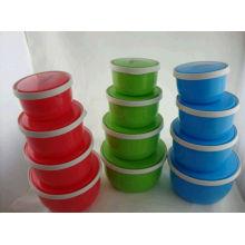 Venta caliente 4sets caja plástica barata Wolesale de la comida con alta calidad