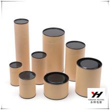 Custom Kraft Round Tube Boxes Set Gift Packaging Cylinder Shape Box