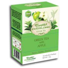 Apple aromatizado chá verde pirâmide chá saco superior mistura orgânica e compatível com a UE (ftb1508)