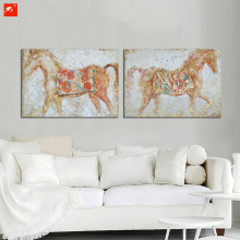 Pure Handmade Horse Oil Painting With Frame