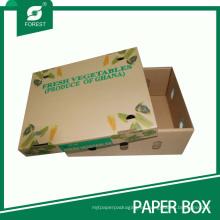 Caja de verduras corrugadas ecofriendly