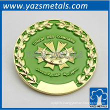customize union des comores with enamel