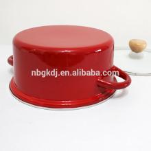 pot de cuisson en émail décoré de couleur pure