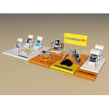 Affichage d'accessoire de téléphone portable de comptoir de conception chaude de vente, affichage acrylique de téléphone portable