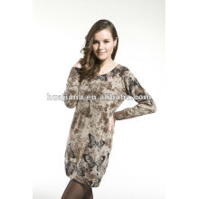 fashion ladies sweater dresses/ 100% Cashmere knits