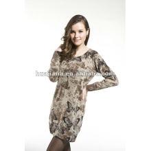 fashion ladies sweater dresses/ 100% Cashmere knits