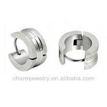 Sand surface Men's Earring in Stainless Steel Wholesale Men's huggie earrings HE-032