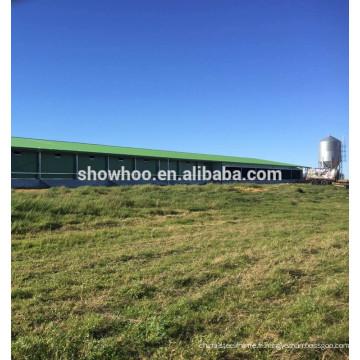 structure en acier maison d'abattage de poulet maison de ventilation à vendre
