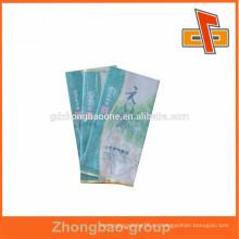 Bolso de papel de seda de encargo lamiated respetuoso del medio ambiente / bolso de papel de arroz / bolsa lateral del té del gusset