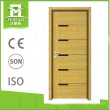 Nueva puerta de madera de melamina de panel MDF de diseño hecha en china