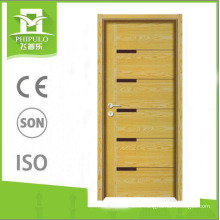 New design MDF panel melamine wooden door made in china