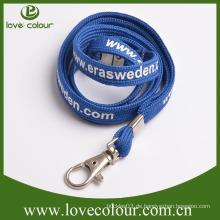 Kundenspezifische Seidenschirm Lanyard Muster mit Lanyard Zubehör