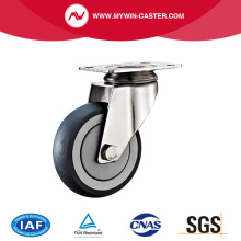 Plate Swivel  TPR Stainless Steel Caster