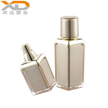 Square airless bottle with round lid acrylic plastic cosmetic custom made packaging with good price