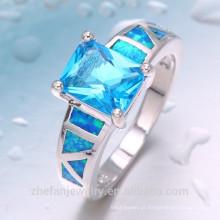 2018 Moda 925 anel de prata com pedra azul anel de jóias de design perfeito