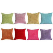 18 x 18 Embroidery Velvet Sofa Pillows For Bed , Green Pink