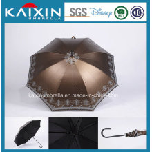 Fashion Wooden Handle Straight Sun Umbrella