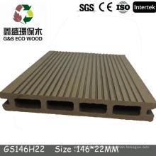 Gswpc al aire libre wpc compuesto decking / europeo estándar eco madera / wpc azulejos impermeable