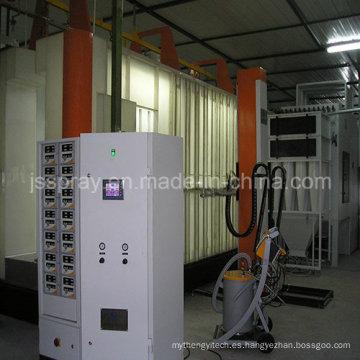 Equipo electrostático de recubrimiento en polvo para aluminio