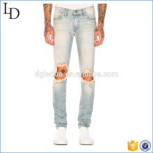 OEM manufacturer wholesale boys damaged jeans snow wash jeans