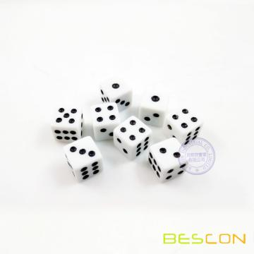 Small Plastic Dice 8MM in Straight Style
