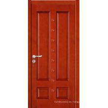 Puerta de madera sólida de la venta caliente de la alta calidad con diseño de la manera con el certificado