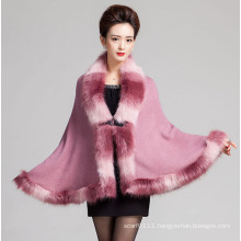 Lady Fashion Space Dyed Fur Acrylic Knitted Winter Shawl (YKY4466-5)