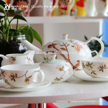China Factory Chinese traditional Plum flower Fine Ceramic coffee set