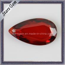 Fashion Jewelry Set Pear Shape Garnet Cubic Zirconia