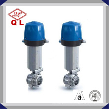 Stainless Steel Pneumatic Sanitary Butterfly Valve with Control Valve