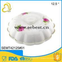 mélamine dîner séparation vaisselle vaisselle plateau en plastique avec couvercle