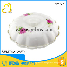 melamine dinner severing tableware plastic food tray with lid