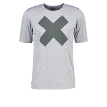 Print tshirt grey melange men  running wear