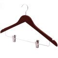 Clips Top Set Coat Hanger for Clothes Mahogany /Brown