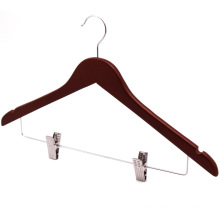 Clips Top Set Coat Hanger for Clothes Mahogany /Brown