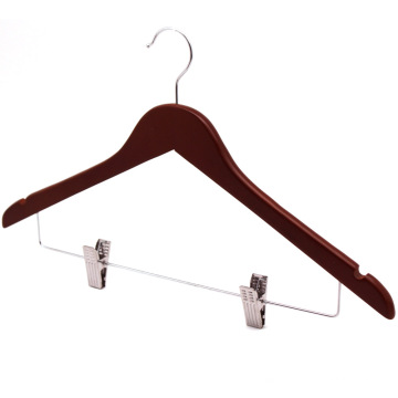 Clips haut cintre Set pour vêtements /Brown acajou