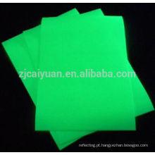 Brilho de CY em Fabirc o escuro, usar um empate de caneta do laser no tecido