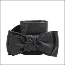 Новый пояс bowknot моды широкие пояса PU талии для дам