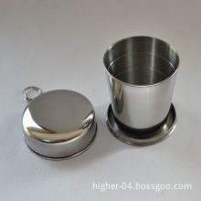 Stainless Steel Collapsible Mug with Keychain