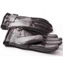Herrenmode warme Leder Motorrad fahren Sport Handschuhe (YKY5189-2)