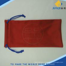 embossed logo microfiber eyecare bag