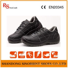 Black Steel Cheap Safety Shoes Prix RS819