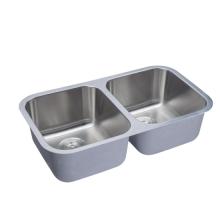 Eviers de cuisine Undermount 50/50 en acier inoxydable à deux cuves