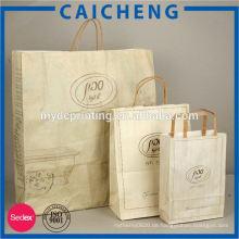Benutzerdefinierte Kraftpapier Tasche Großhandel Paw Print Bag