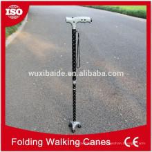 Aluminium-Fußrohr Cnc-Bearbeitung / Cnc bearbeitete Aluminium Walking Cane / Walking Canon benutzerdefinierte nach Zeichnungen