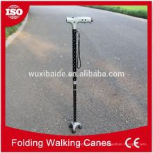 Usinage en caoutchouc en caoutchouc en aluminium / cnc usiné en aluminium canne / canne à pied en caoutchouc selon les dessins